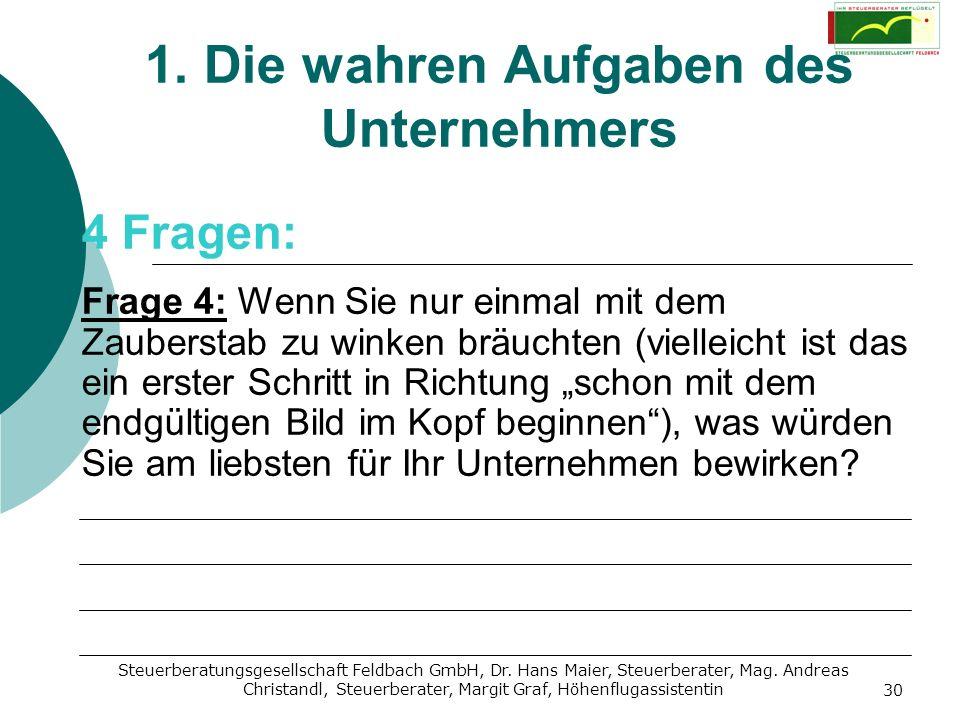 Steuerberatungsgesellschaft Feldbach GmbH, Dr. Hans Maier, Steuerberater, Mag. Andreas Christandl, Steuerberater, Margit Graf, Höhenflugassistentin 30