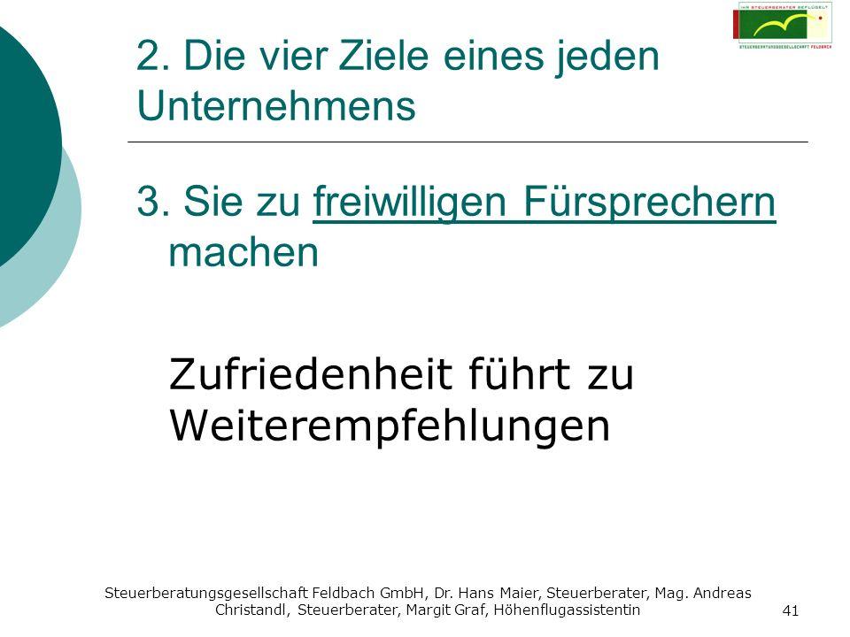 Steuerberatungsgesellschaft Feldbach GmbH, Dr. Hans Maier, Steuerberater, Mag. Andreas Christandl, Steuerberater, Margit Graf, Höhenflugassistentin 41
