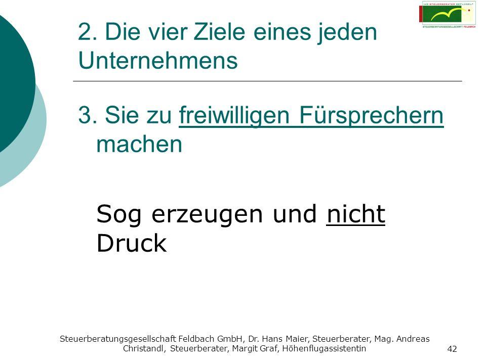 Steuerberatungsgesellschaft Feldbach GmbH, Dr. Hans Maier, Steuerberater, Mag. Andreas Christandl, Steuerberater, Margit Graf, Höhenflugassistentin 42