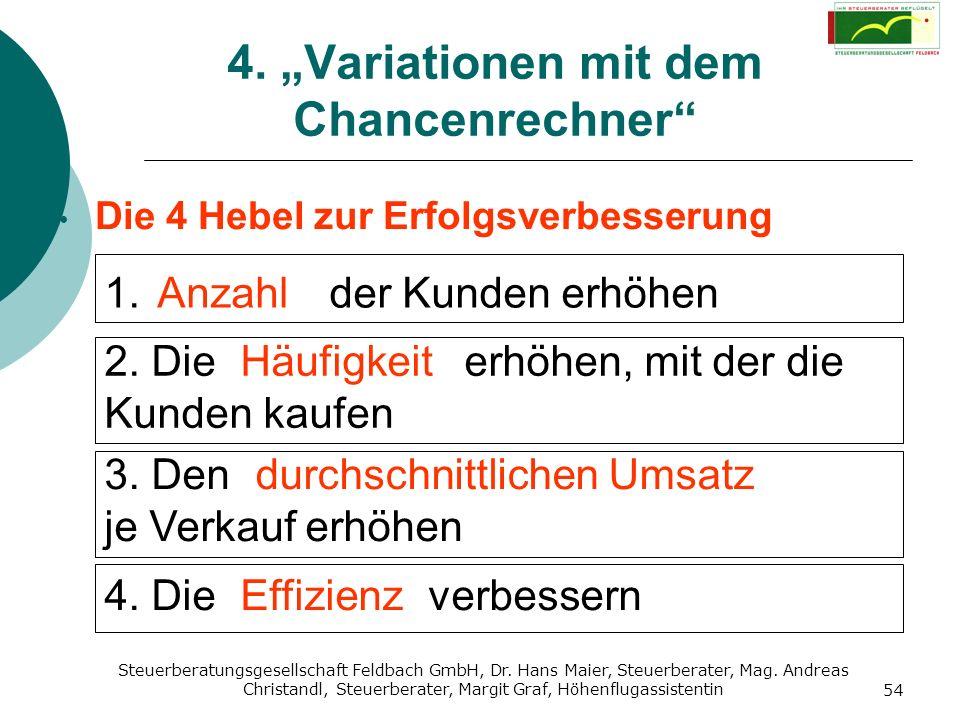 Steuerberatungsgesellschaft Feldbach GmbH, Dr. Hans Maier, Steuerberater, Mag. Andreas Christandl, Steuerberater, Margit Graf, Höhenflugassistentin 54
