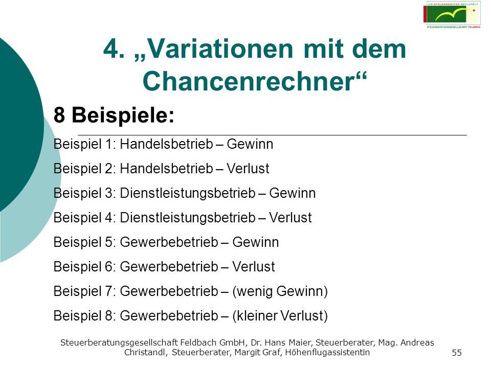 Steuerberatungsgesellschaft Feldbach GmbH, Dr. Hans Maier, Steuerberater, Mag. Andreas Christandl, Steuerberater, Margit Graf, Höhenflugassistentin 55