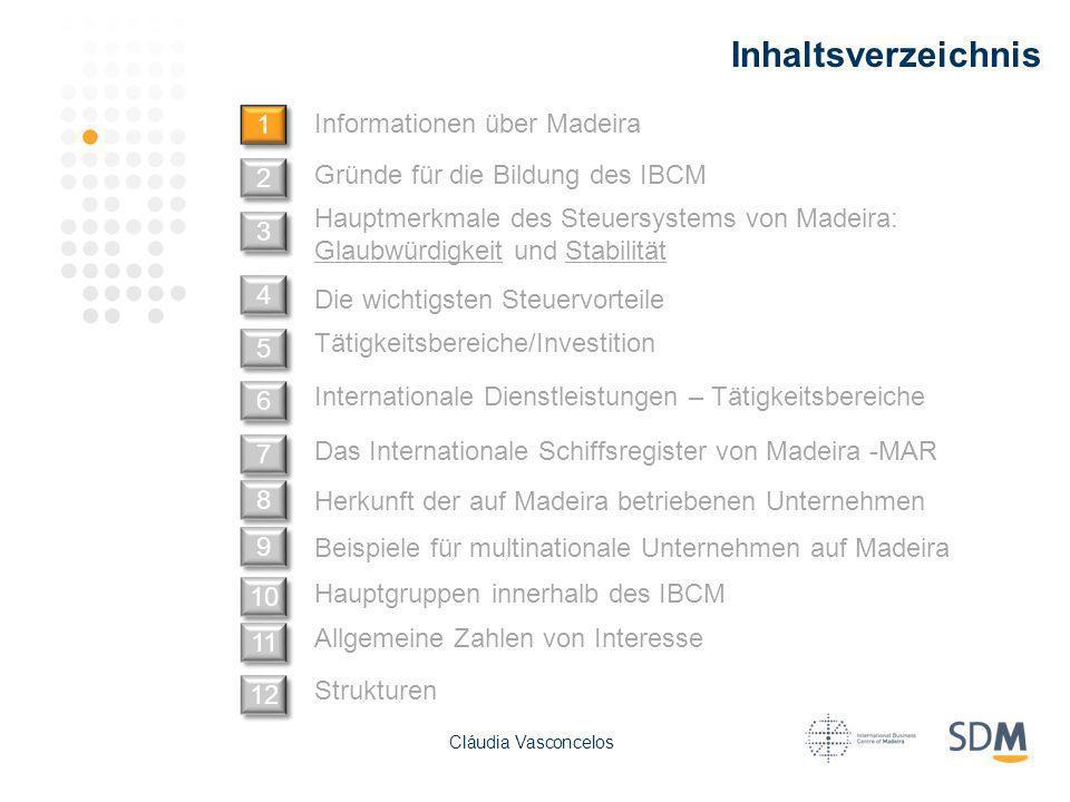 Inhaltsverzeichnis Informationen über Madeira 1 1 Hauptgruppen innerhalb des IBCM Gründe für die Bildung des IBCM Hauptmerkmale des Steuersystems von