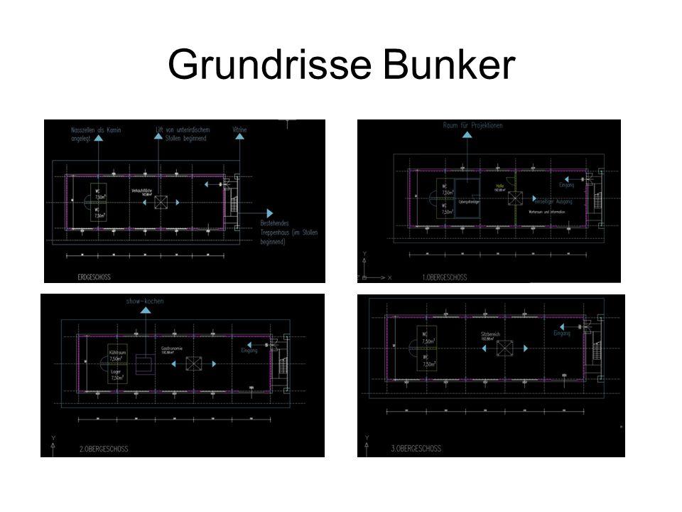 Grundrisse Bunker