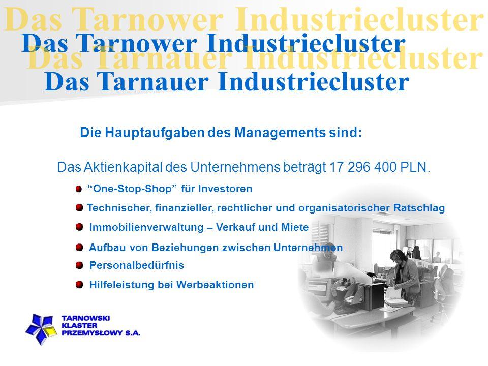 Die Hauptaufgaben des Managements sind: Das Aktienkapital des Unternehmens beträgt 17 296 400 PLN.