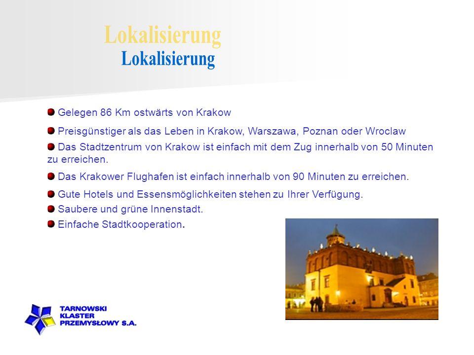 Gelegen 86 Km ostwärts von Krakow Preisgünstiger als das Leben in Krakow, Warszawa, Poznan oder Wroclaw Das Stadtzentrum von Krakow ist einfach mit dem Zug innerhalb von 50 Minuten zu erreichen.