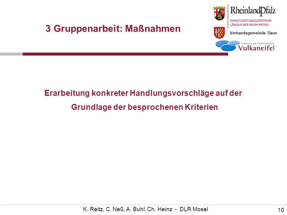 Verbandsgemeinde Daun 10 K. Reitz, C. Neß, A. Buhl, Ch.