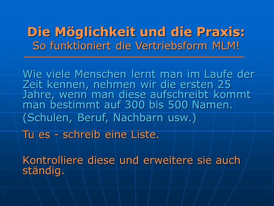 Die Möglichkeit und die Praxis: So funktioniert die Vertriebsform MLM.