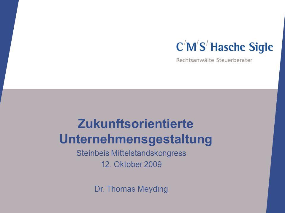 Zukunftsorientierte Unternehmensgestaltung Steinbeis Mittelstandskongress 12.