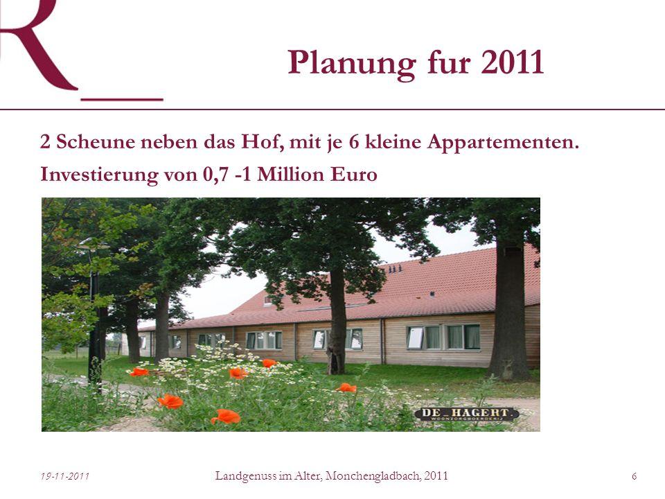Planung fur 2011 2 Scheune neben das Hof, mit je 6 kleine Appartementen.