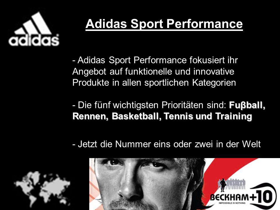 Adidas Sport Performance - Adidas Sport Performance fokusiert ihr Angebot auf funktionelle und innovative Produkte in allen sportlichen Kategorien Fuβ