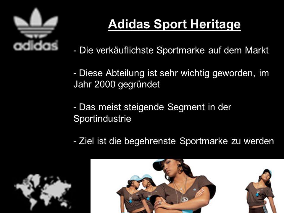 Adidas Sport Heritage - Die verkäuflichste Sportmarke auf dem Markt - Diese Abteilung ist sehr wichtig geworden, im Jahr 2000 gegründet - Das meist st