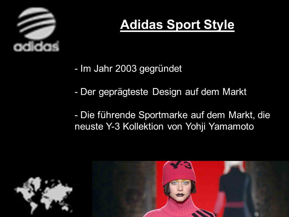 - Im Jahr 2003 gegründet - Der geprägteste Design auf dem Markt - Die führende Sportmarke auf dem Markt, die neuste Y-3 Kollektion von Yohji Yamamoto
