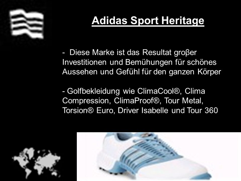 Adidas Sport Heritage - Diese Marke ist das Resultat groβer Investitionen und Bemühungen für schönes Aussehen und Gefühl für den ganzen Körper - Golfb