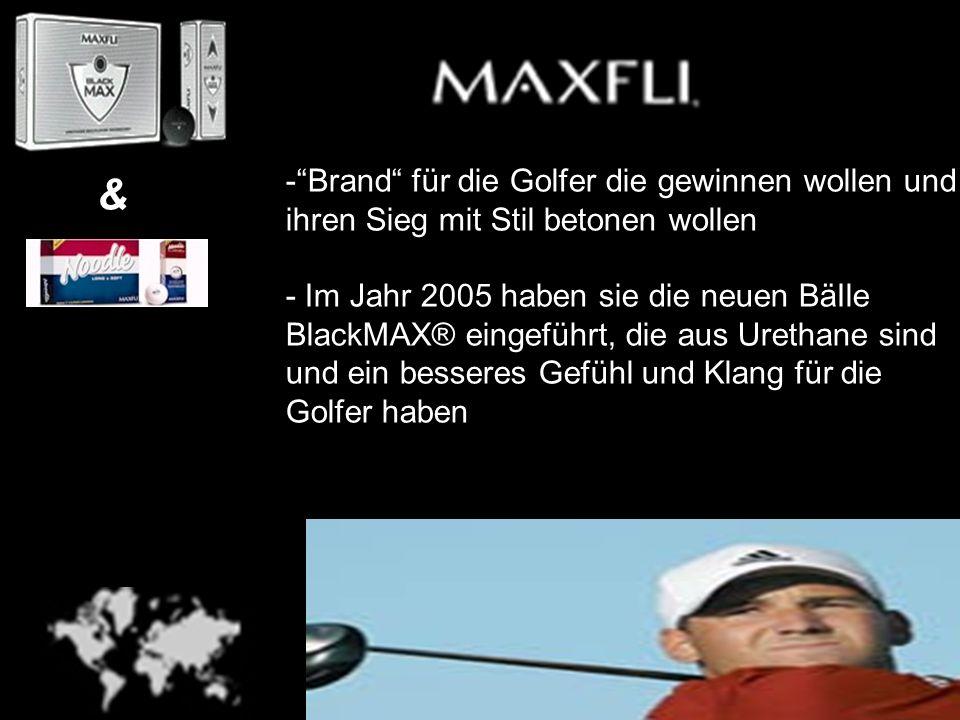 -Brand für die Golfer die gewinnen wollen und ihren Sieg mit Stil betonen wollen - Im Jahr 2005 haben sie die neuen BäIle BlackMAX® eingeführt, die au