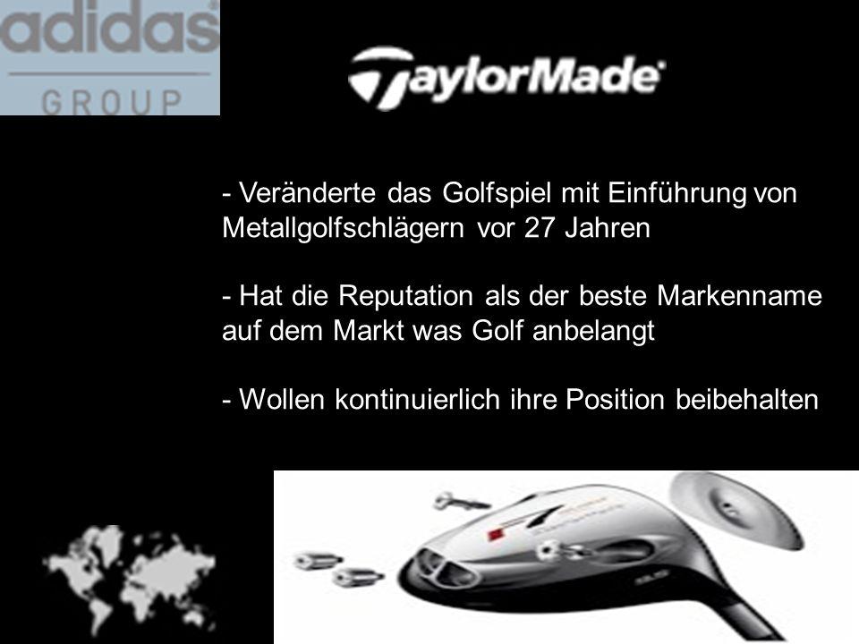 - Veränderte das Golfspiel mit Einführung von Metallgolfschlägern vor 27 Jahren - Hat die Reputation als der beste Markenname auf dem Markt was Golf a