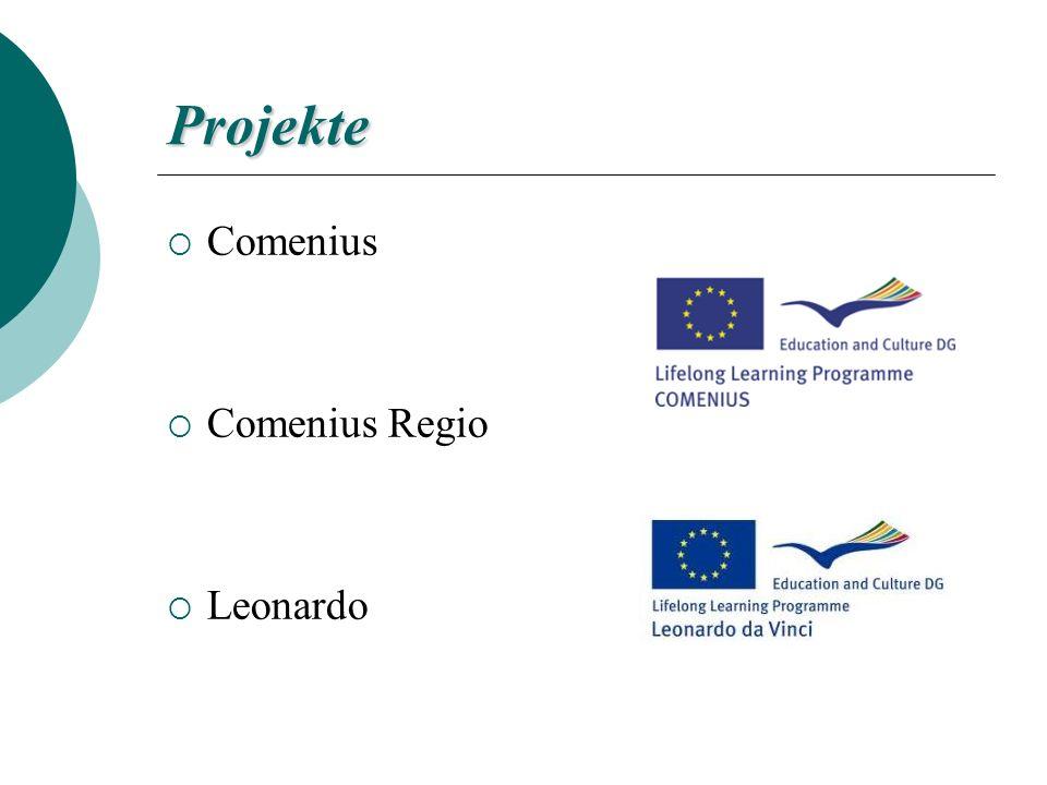 Projekte Comenius Comenius Regio Leonardo
