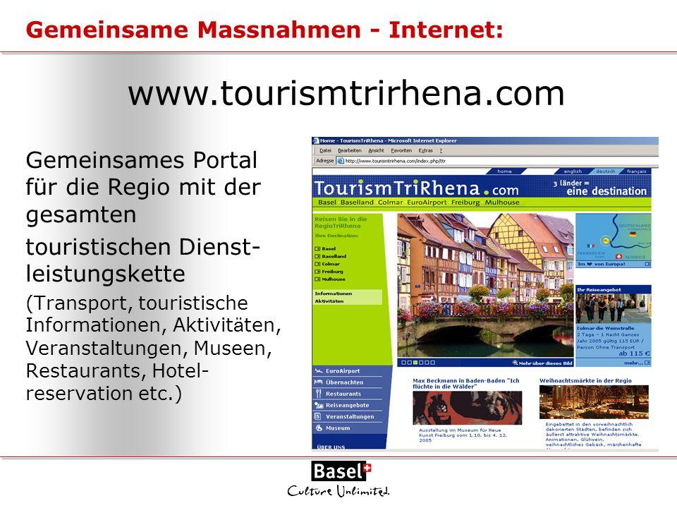 Gemeinsames Portal für die Regio mit der gesamten touristischen Dienst- leistungskette (Transport, touristische Informationen, Aktivit ä ten, Veransta
