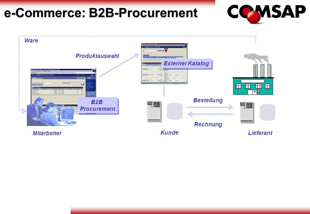 Bestellung Rechnung Lieferant Ware Kunde B2B Procurement Mitarbeiter Externer Katalog Produktauswahl e-Commerce: B2B-Procurement