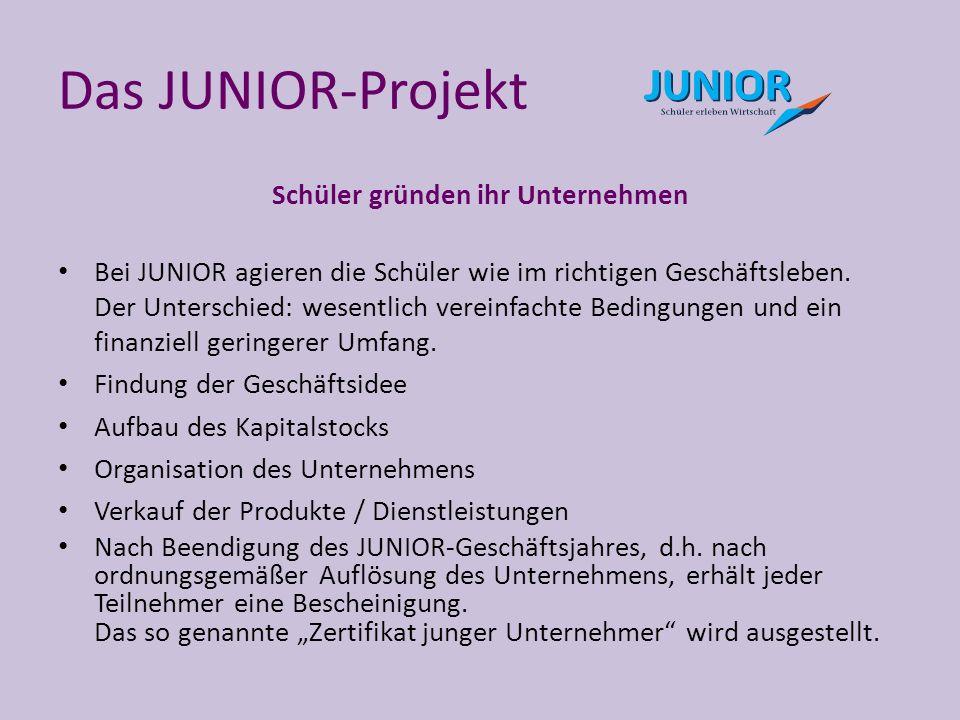 Das JUNIOR-Projekt