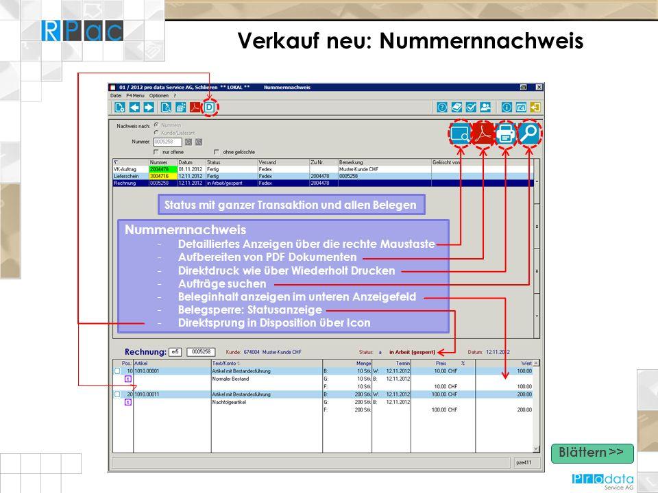 Verkauf neu: Nummernnachweis Nummernnachweis - Detailliertes Anzeigen über die rechte Maustaste - Aufbereiten von PDF Dokumenten - Direktdruck wie übe