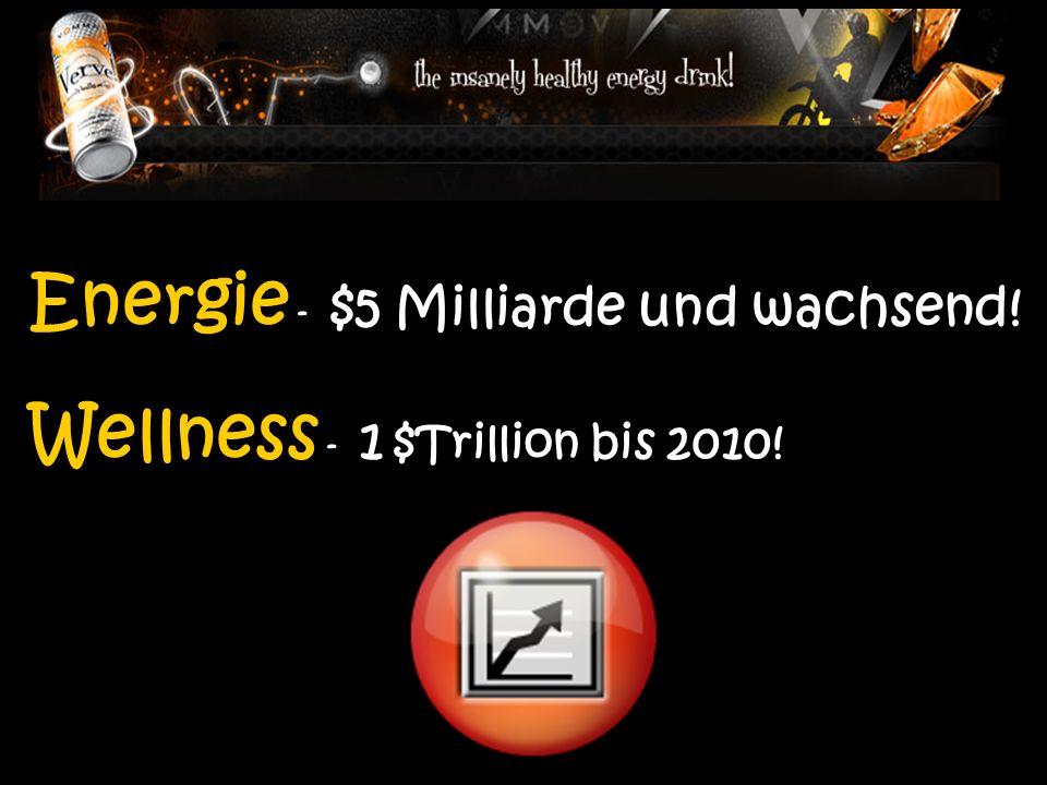 Energie - $5 Milliarde und wachsend! Wellness - 1 $Trillion bis 2010!