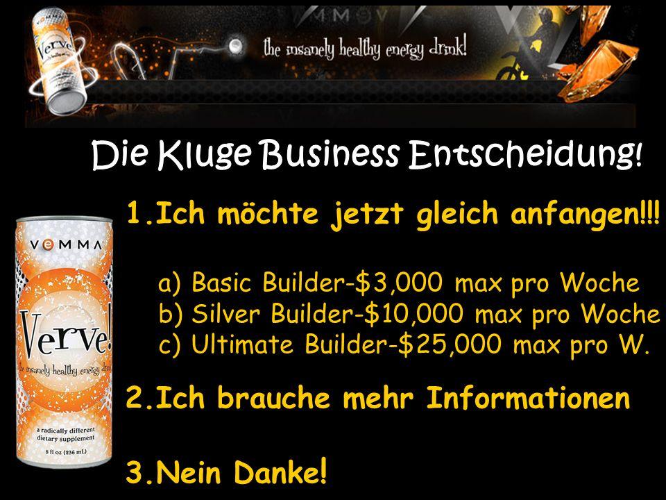 Die Kluge Business Entscheidung. 1.Ich möchte jetzt gleich anfangen!!.