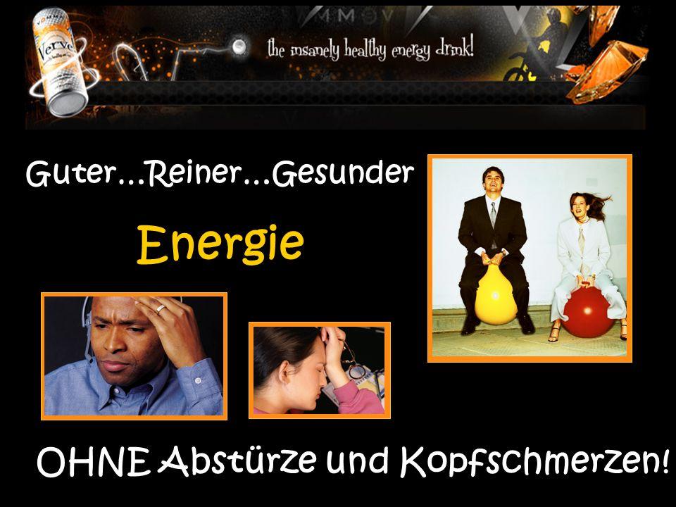 Guter…Reiner…Gesunder Energie OHNE Abstürze und Kopfschmerzen!