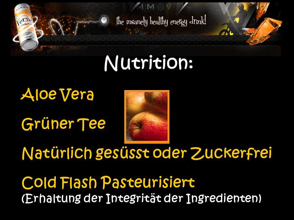Nutrition: Aloe Vera Grüner Tee Natürlich gesüsst oder Zuckerfrei Cold Flash Pasteurisiert (Erhaltung der Integrität der Ingredienten)