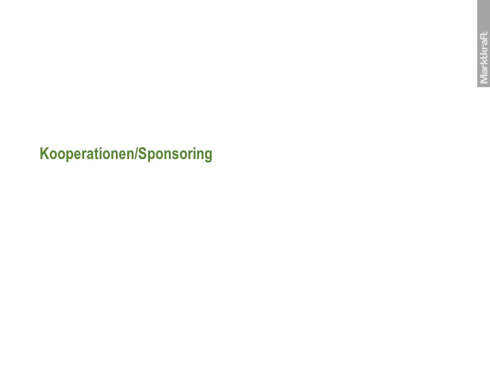Kooperationen/Sponsoring