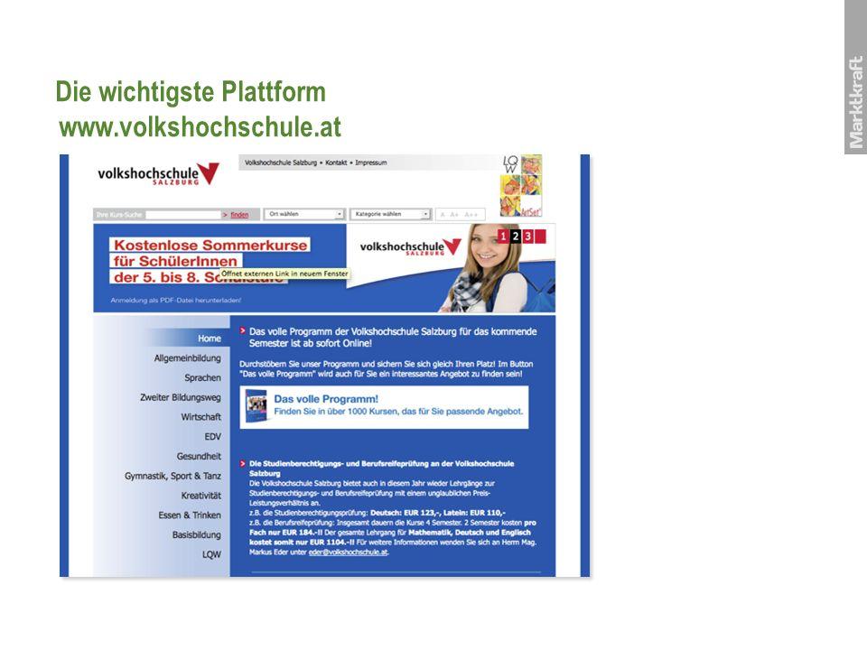 Die wichtigste Plattform www.volkshochschule.at