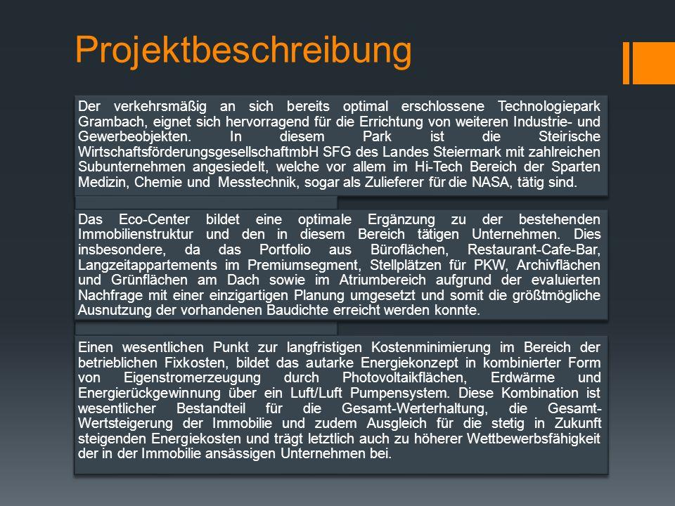 Der verkehrsmäßig an sich bereits optimal erschlossene Technologiepark Grambach, eignet sich hervorragend für die Errichtung von weiteren Industrie- und Gewerbeobjekten.