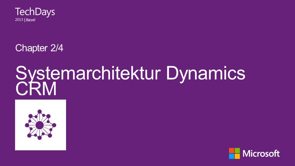 | Basel Systemarchitektur Dynamics CRM Chapter 2/4