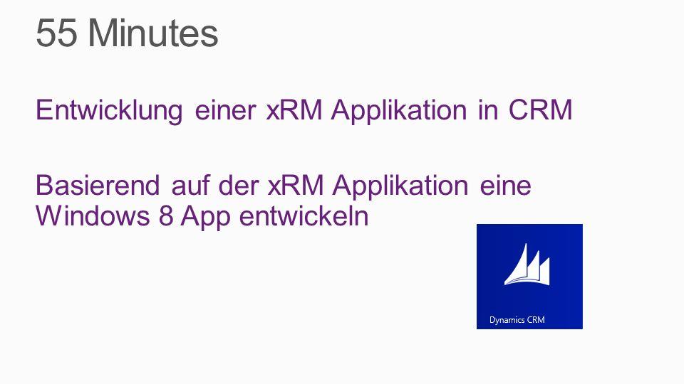 Agenda Themen Plattform Dynamics CRM Demo Dynamics CRM - xRM – Win 8 App Systemarchitektur Dynamics CRM Coding der Win 8 App Tools und Infos Q & A