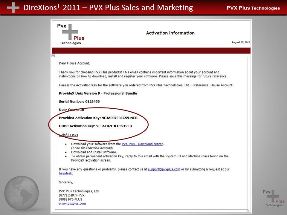 DireXions + 2011 – PVX Plus Sales and Marketing ProvideX zu PxPlus Wie kommen wir dorthin.