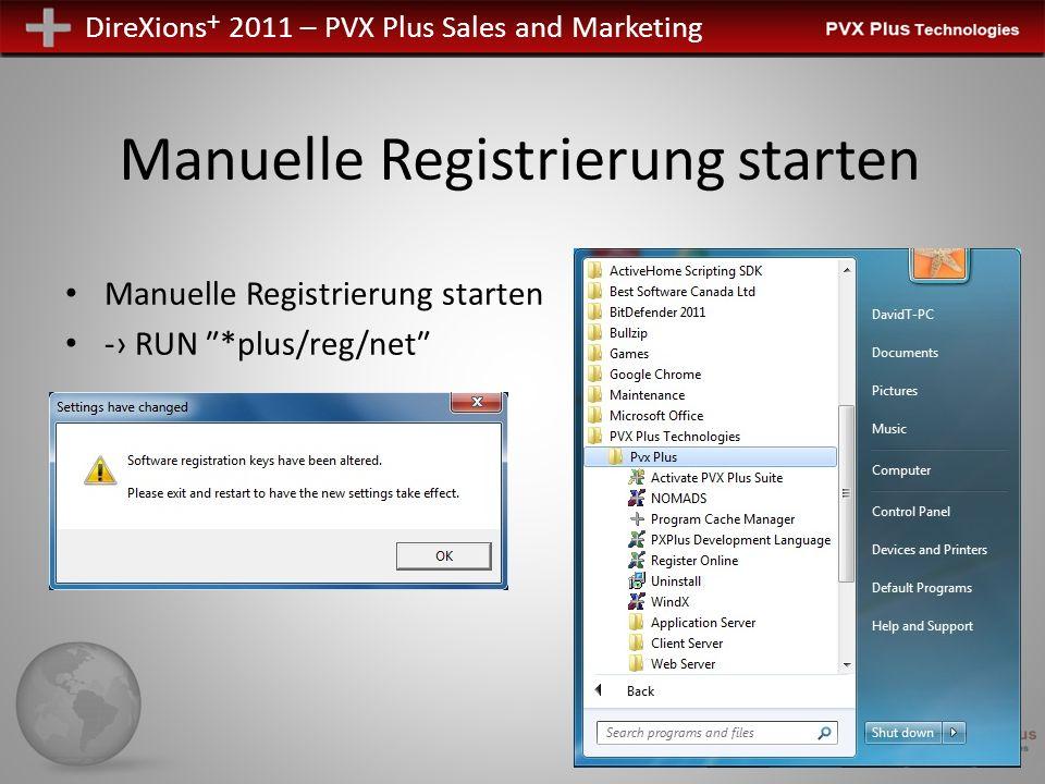 DireXions + 2011 – PVX Plus Sales and Marketing PxPlus Online Aktivierung UNIX/Linux Aktivierung Ausführbar - pxpreg Automatisiert Temporary Manuell