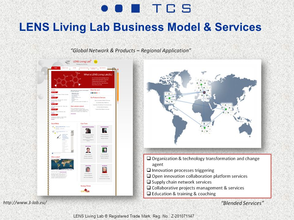 LENS Living Lab Business Model & Services LENS Living Lab ® Registered Trade Mark, Reg.