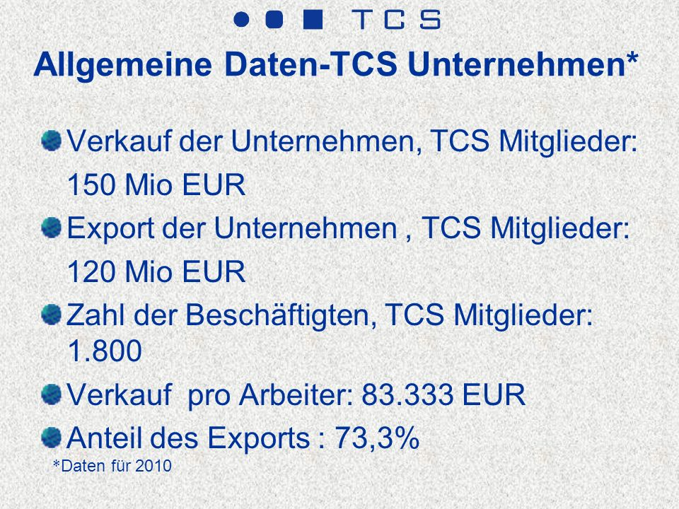 TCS Mitglieder - Unternehmen