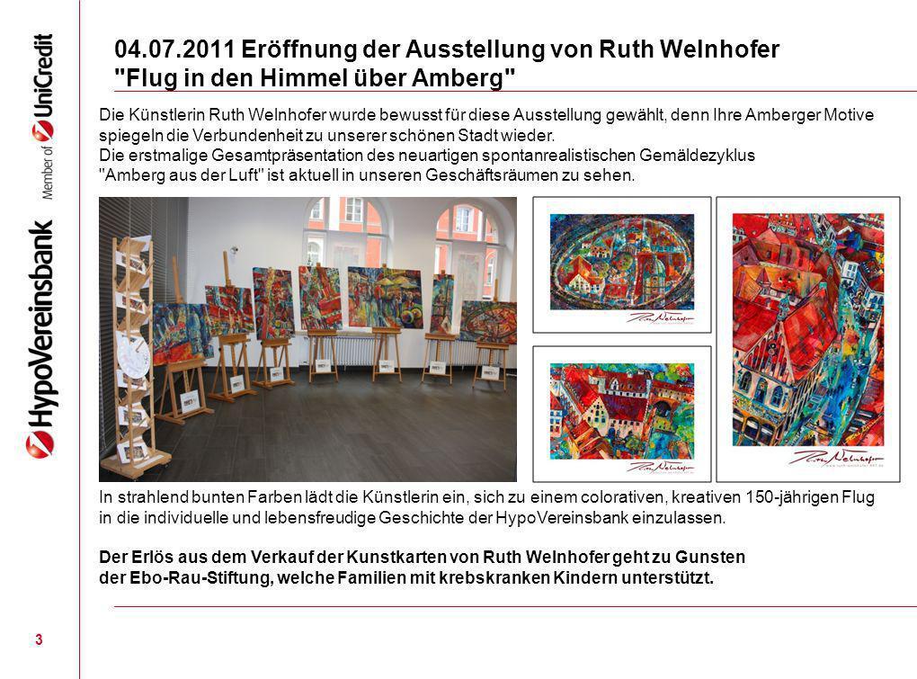 04.07.2011 Eröffnung der Ausstellung von Ruth Welnhofer