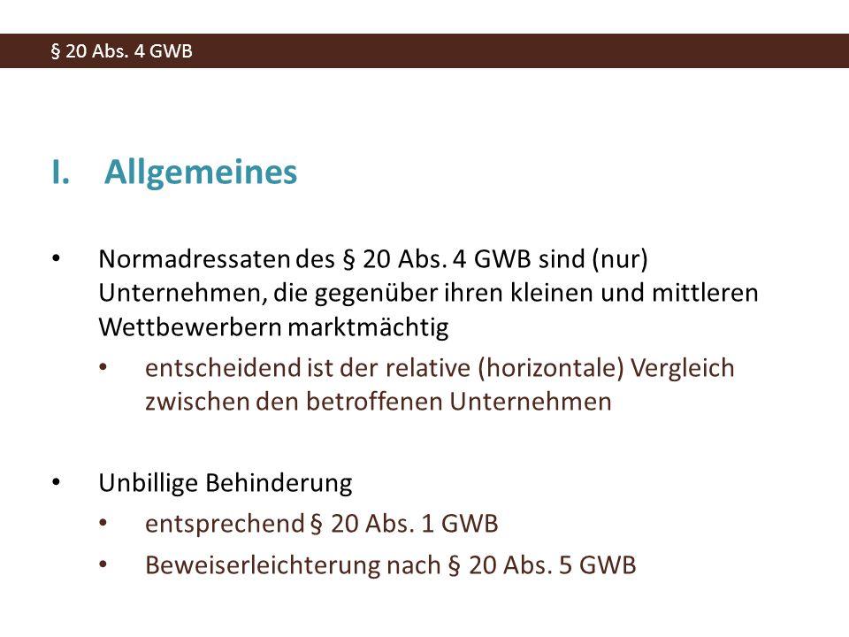 I.Allgemeines Normadressaten des § 20 Abs.