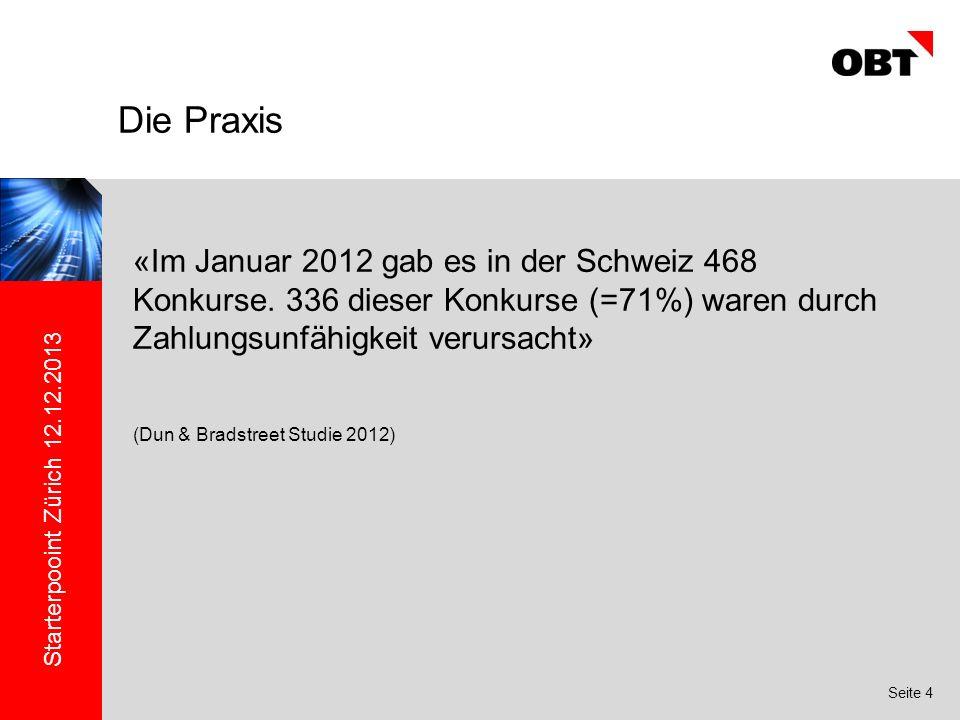 Starterpooint Zürich 12.12.2013 Seite 4 «Im Januar 2012 gab es in der Schweiz 468 Konkurse.