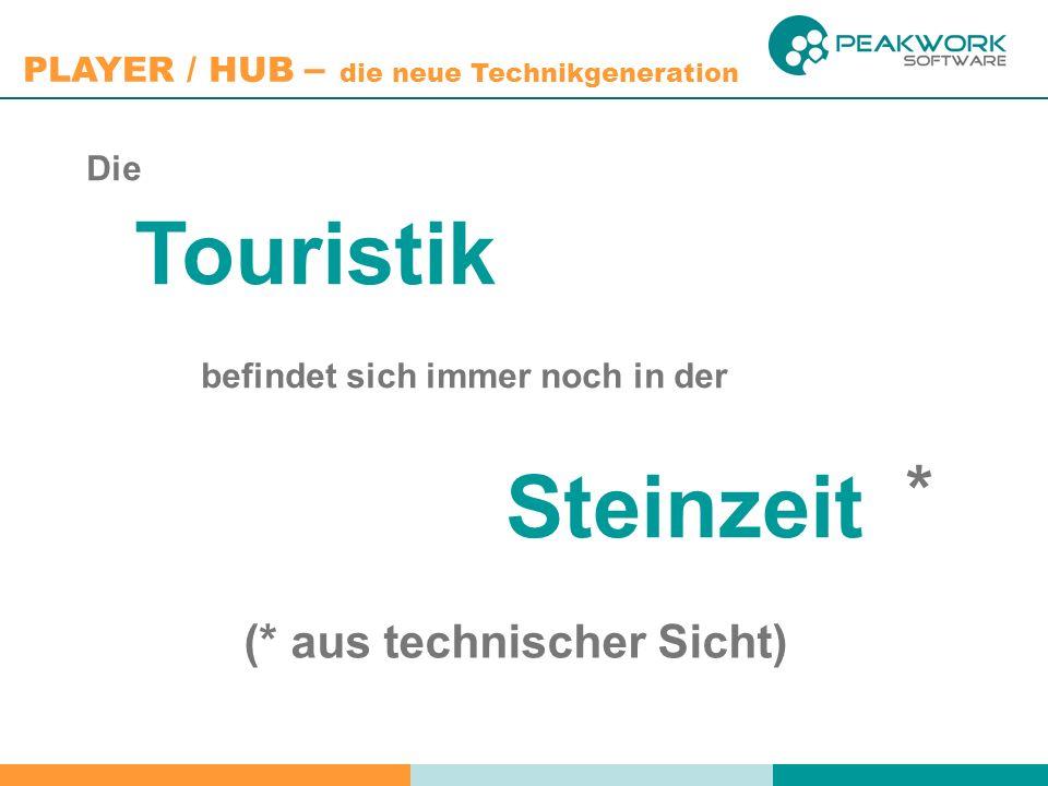 PLAYER / HUB – die neue Technikgeneration Die Touristik befindet sich immer noch in der Steinzeit (* aus technischer Sicht) *