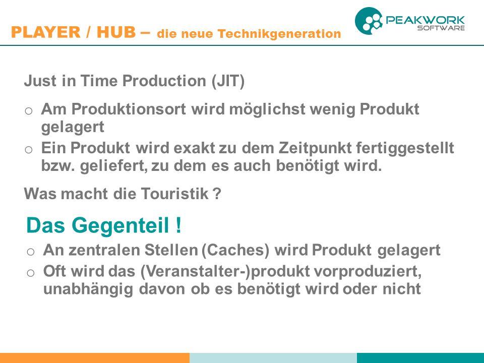 PLAYER / HUB – die neue Technikgeneration Muchas gracias …
