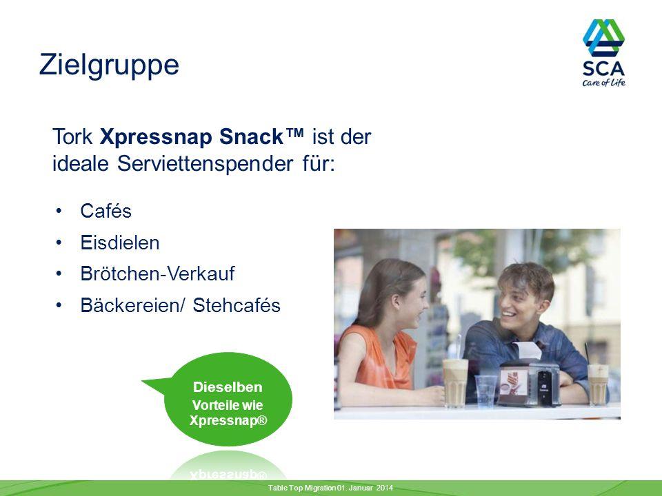 Die Tork Xpressnap® Spenderfamilie erhält Verstärkung …durch den neuen Tork Xpressnap Snack Spender.