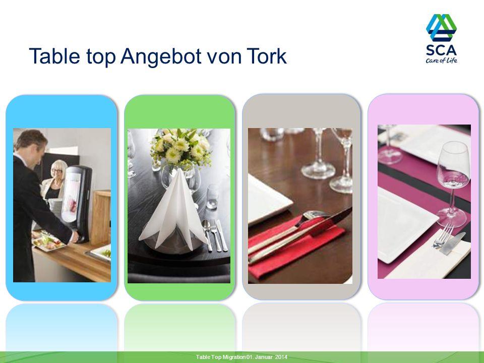 Table top Angebot von Tork Table Top Migration 01. Januar 2014