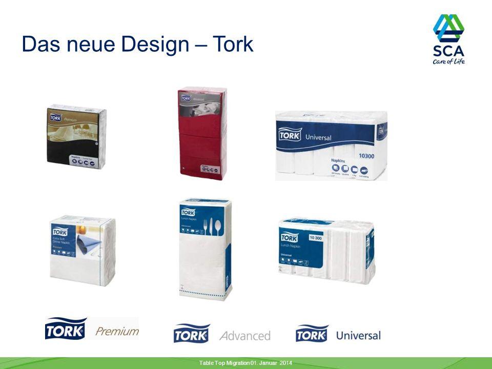 Das neue Design – Tork Table Top Migration 01. Januar 2014