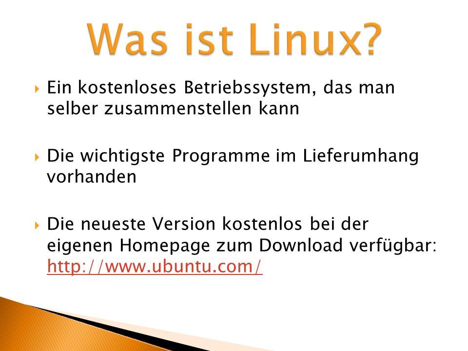 Alle wichtigen Programme sind an Bord Eine der Stärken von Linux ist die Menge der mitgelieferter Software.