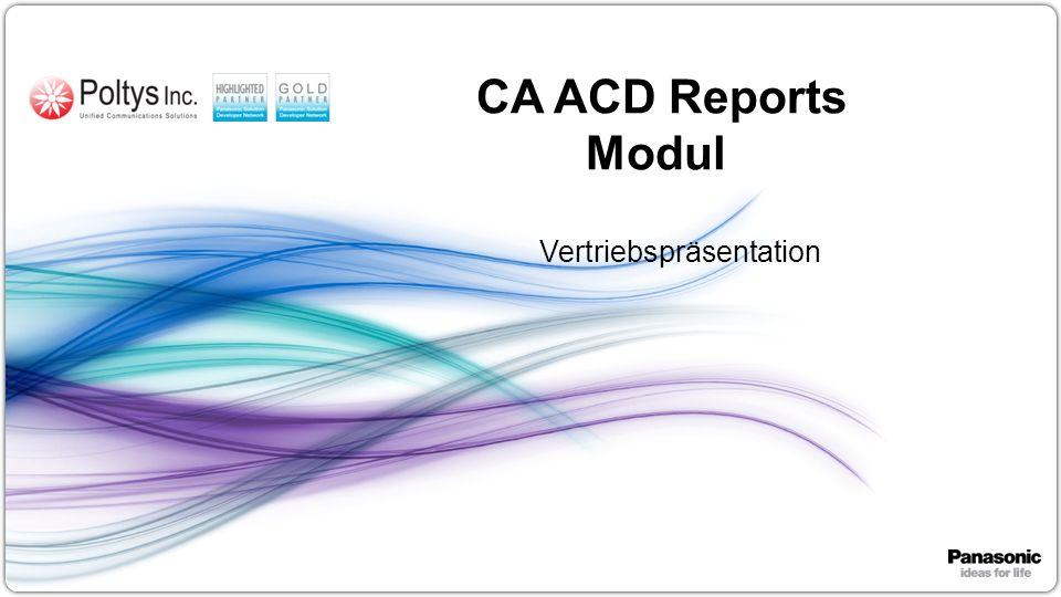 1 CA ACD Reports Modul Vertriebspräsentation