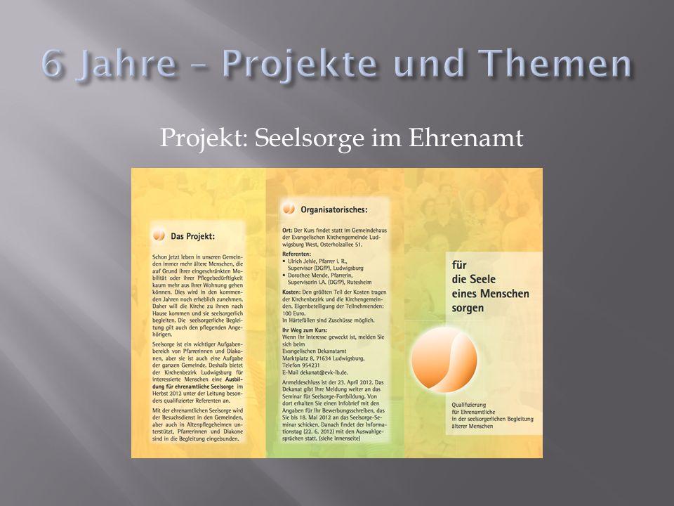 Projekt: Seelsorge im Ehrenamt