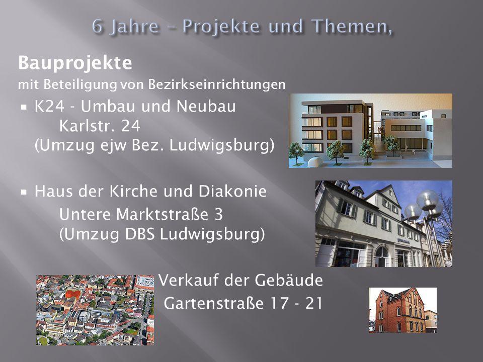 Bauprojekte mit Beteiligung von Bezirkseinrichtungen K24 - Umbau und Neubau Karlstr. 24 (Umzug ejw Bez. Ludwigsburg) Haus der Kirche und Diakonie Unte