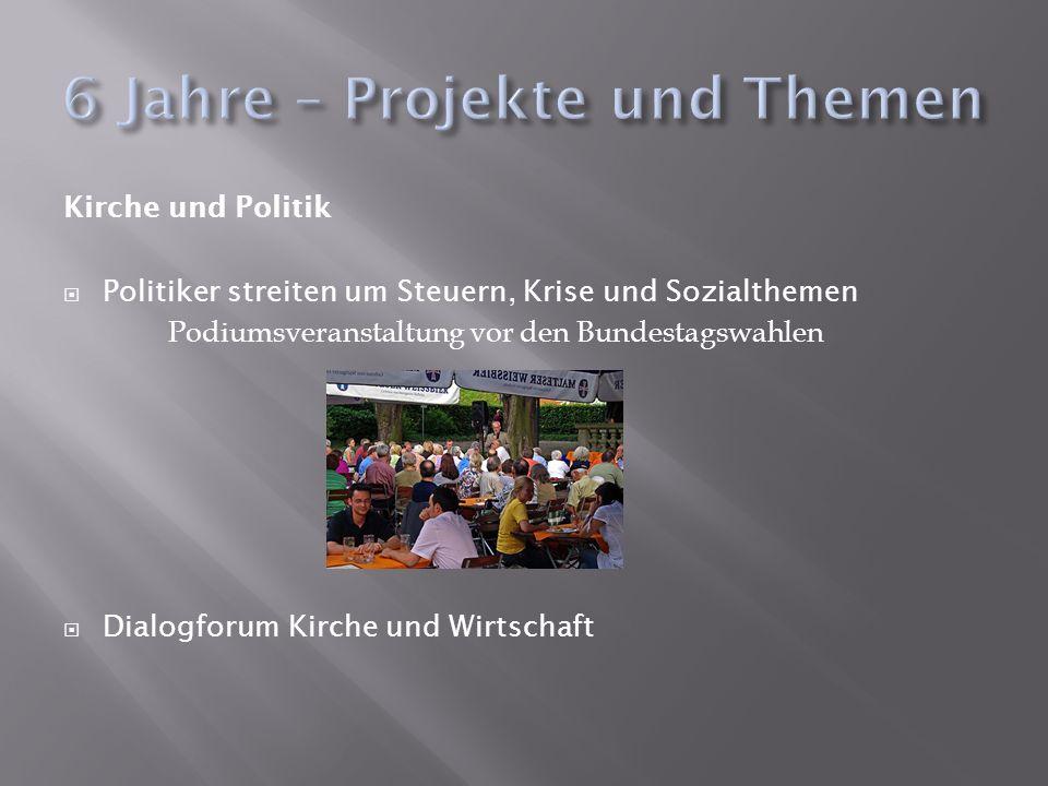 Kirche und Politik Politiker streiten um Steuern, Krise und Sozialthemen Podiumsveranstaltung vor den Bundestagswahlen Dialogforum Kirche und Wirtscha